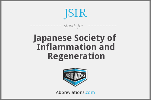 JSIR - Japanese Society of Inflammation and Regeneration