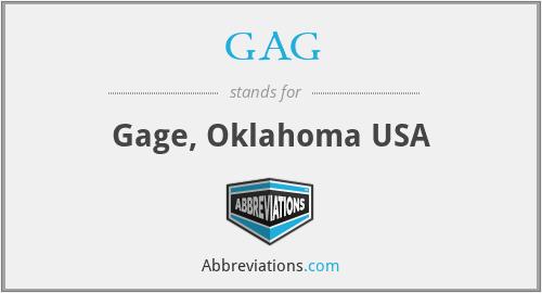 GAG - Gage, Oklahoma USA