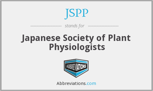 JSPP - Japanese Society of Plant Physiologists