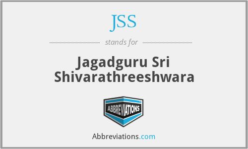 JSS - Jagadguru Sri Shivarathreeshwara