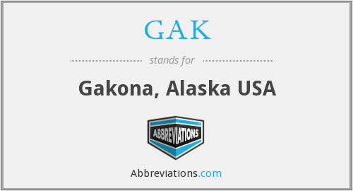 What does GAK stand for?