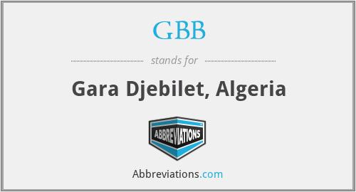 GBB - Gara Djebilet, Algeria