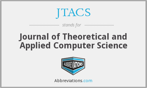 JTACS - Journal of Theoretical and Applied Computer Science