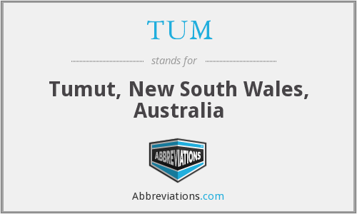 TUM - Tumut, New South Wales, Australia