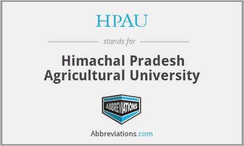 HPAU - Himachal Pradesh Agricultural University