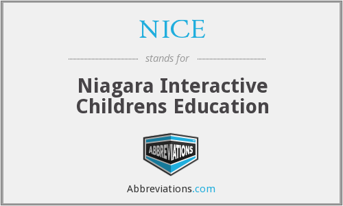 NICE - Niagara Interactive Childrens Education