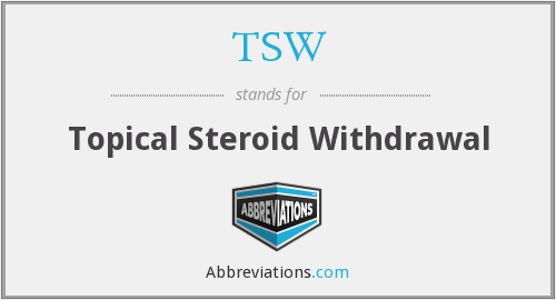 TSW - Topical Steroid Withdrawal