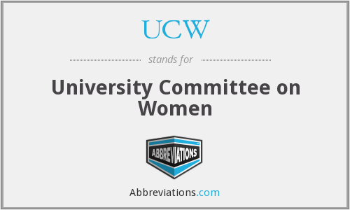 UCW - University Committee on Women
