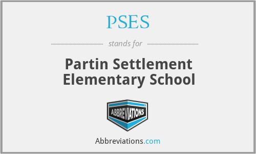 PSES - Partin Settlement Elementary School