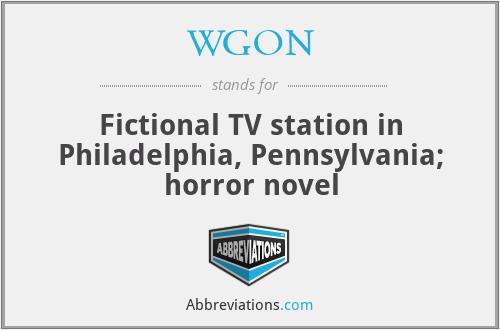 WGON - Fictional TV station in Philadelphia, Pennsylvania; horror novel
