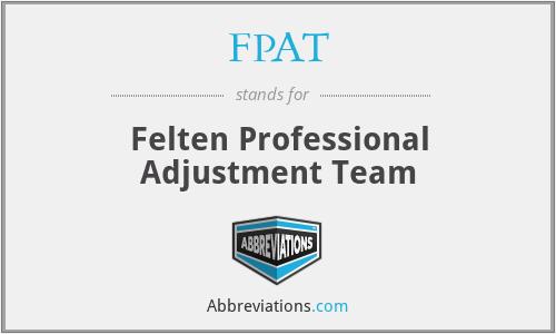 FPAT - Felten Professional Adjustment Team