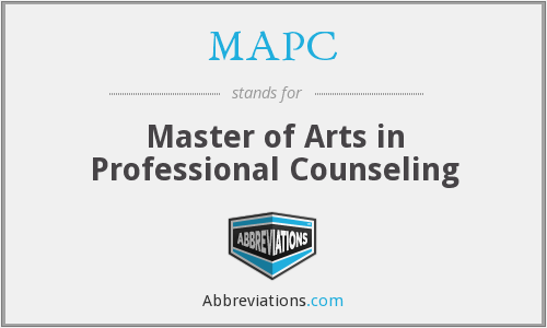 What does MAPC stand for?