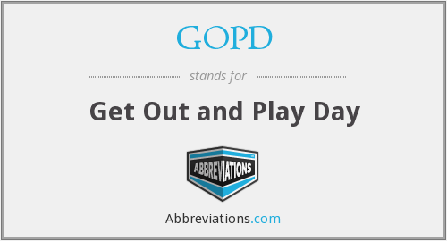 GOPD - Get Out and Play Day