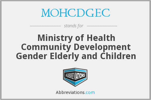 What does MOHCDGEC stand for?
