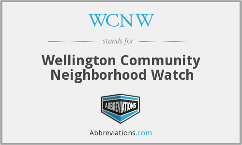 WCNW - Wellington Community Neighborhood Watch