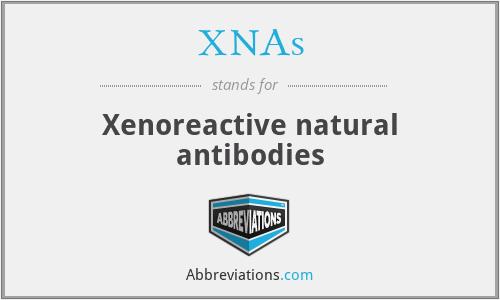 XNAs - Xenoreactive natural antibodies