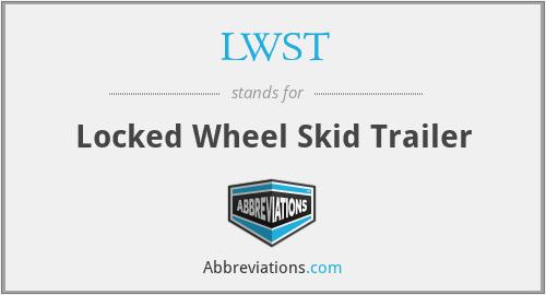 LWST - Locked Wheel Skid Trailer