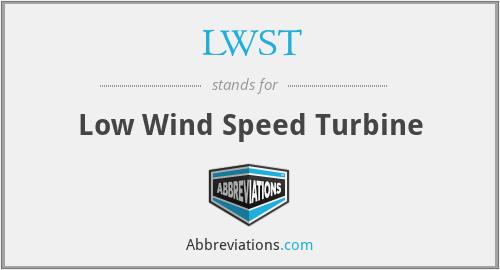 LWST - Low Wind Speed Turbine