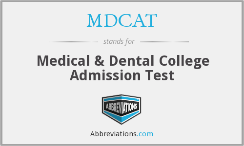 What does MDCAT stand for?