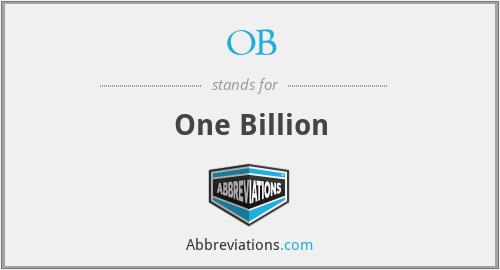 OB - One Billion