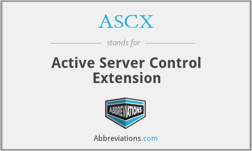 ASCX - Active Server Control Extension