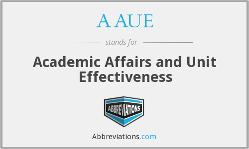 What does AAUE stand for?