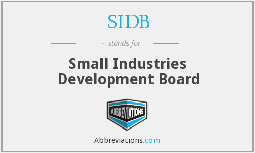 SIDB - Small Industries Development Board