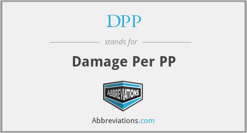 DPP - Damage Per PP