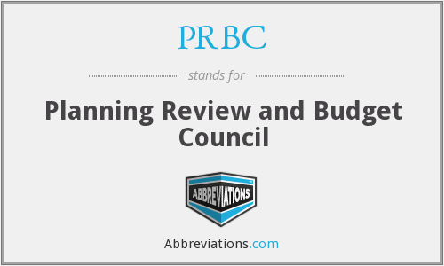 PRBC - Planning Review and Budget Council
