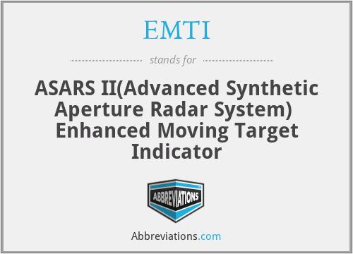 EMTI - ASARS II Enhanced Moving Target Indicator