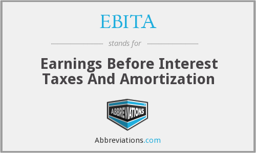 EBITA - Earnings Before Interest Taxes And Amortization