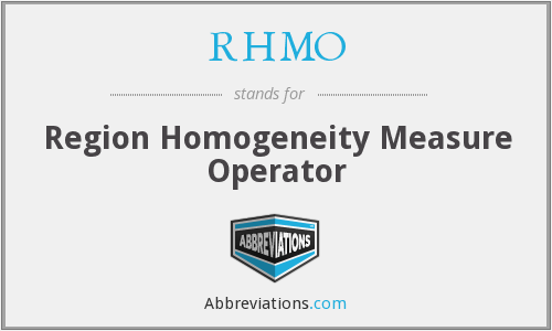 What does RHMO stand for?