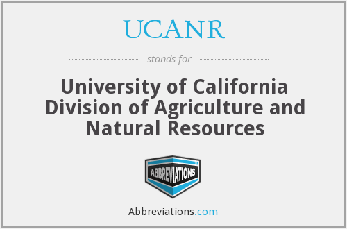 What does UCANR stand for?