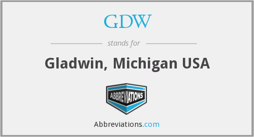GDW - Gladwin, Michigan USA