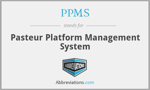PPMS - Pasteur Platform Management System