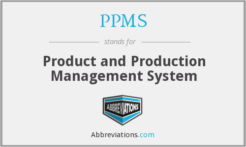 PPMS - Product and Production Management System