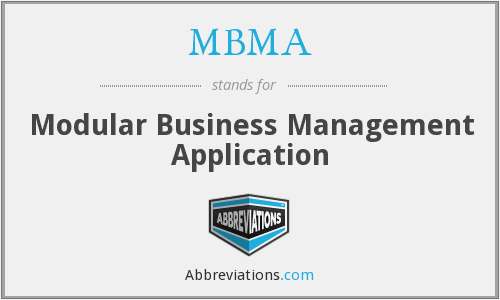 What does MBMA stand for?