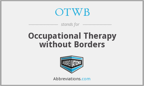 OTWB - Occupational Therapy without Borders