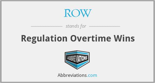 ROW - Regulation Overtime Wins
