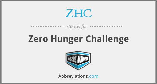 ZHC - Zero Hunger Challenge