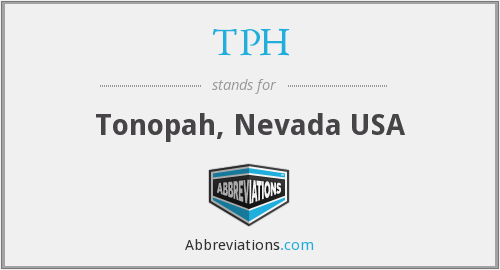 TPH - Tonopah, Nevada USA