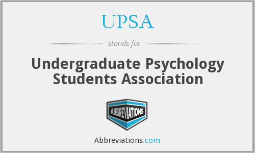 UPSA - Undergraduate Psychology Students Association