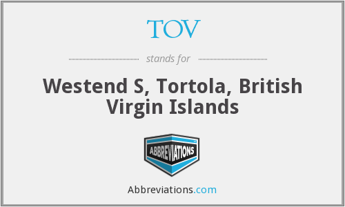TOV - Westend S, Tortola, British Virgin Islands