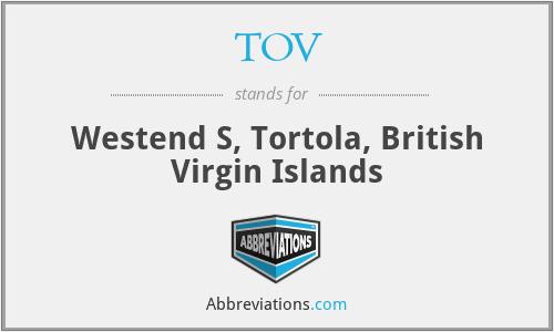 TOV - Westend S, Tortola, British Virgin Islands