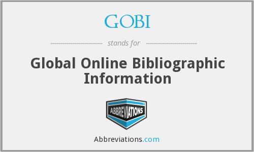 GOBI - Global Online Bibliographic Information