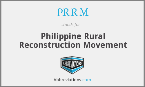 What does PRRM stand for?