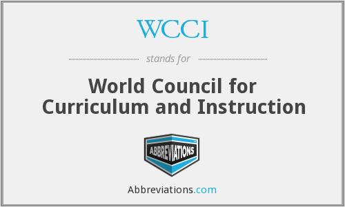 WCCI - World Council for Curriculum and Instruction