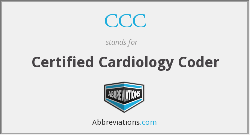 CCC - Certified Cardiology Coder