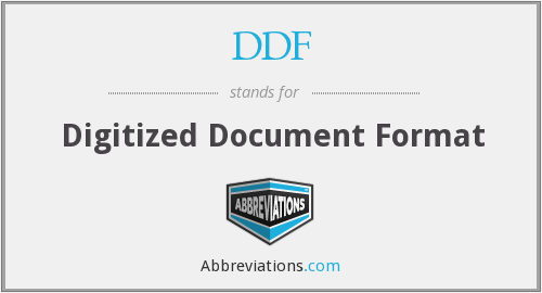DDF - Digitized Document Format