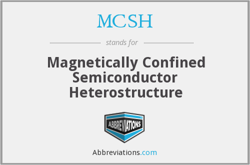 MCSH - Magnetically Confined Semiconductor Heterostructure